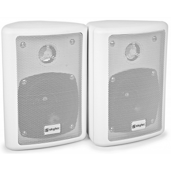 Vonyx 100016 Altavoces HiFi Blanco 75W Con soporte Pared  By-Skytec