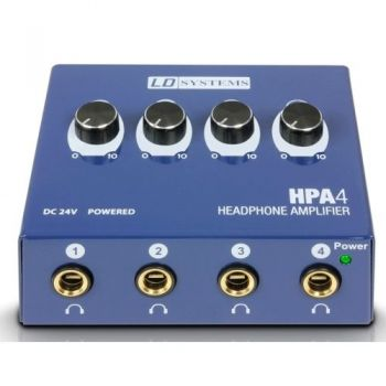 LD SYSTEMS HPA4 Amplificador de 4 Auriculares