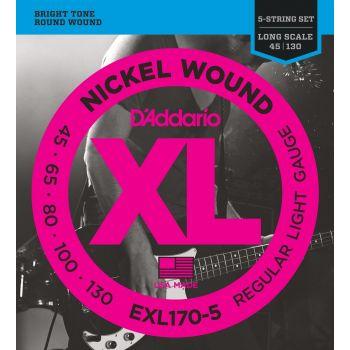 D Addario EXL-170-5C (045-130) Cuerdas Bajo Electrico