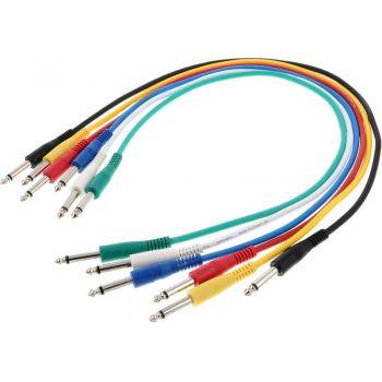 Cable Patch Jack Mono a Jack Mono 6 Und, 0,6 Metros, RF:177