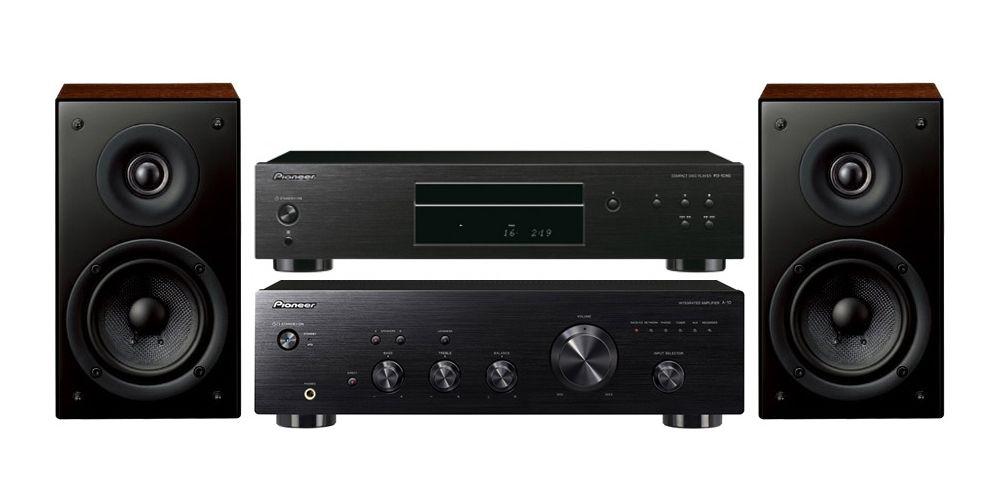 pioneer a 10k amplificador hifi black pd10ae scn301
