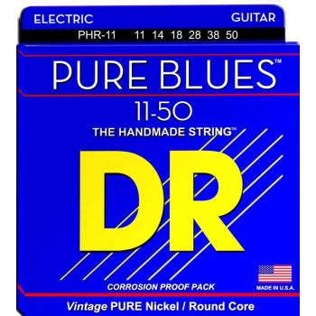 Dr Strings PHR-11 PURE BLUES Pure Nickle Electric 011-050