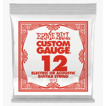 Ernie Ball 1012 Slinky Plana Cuerda Para Guitarra Electrica 0.12