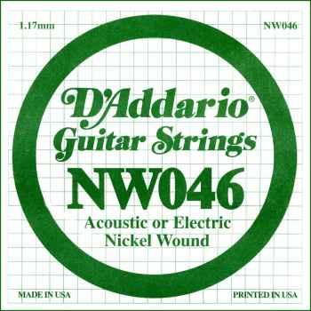 D´addario NW046 Cuerda Suelta para Guitarra Eléctrica
