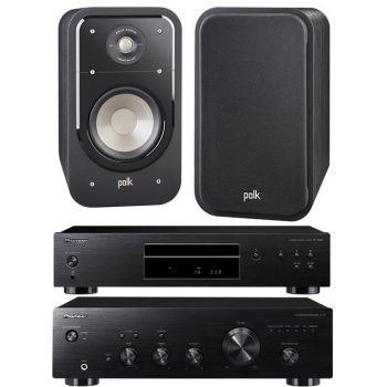 Pioneer A-10K + PD-10AE-K + Polk Audio S-20 BK conjuntos Audio