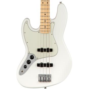 Fender Player Jazz Bass MN Polar White LH Bajo Eléctrico Zurdos