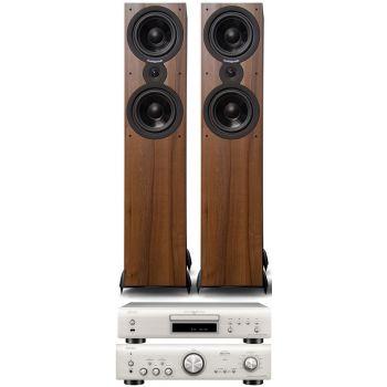 Denon PMA-800AE Silver+DCD800 Silver +SX80 Walnut  Conjunto sonido
