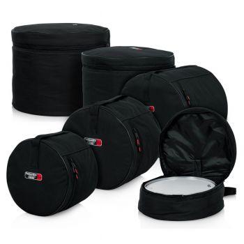 Gator GP-STANDARD-100 Set de Bolsas Estándar de 5 Piezas para Percusión