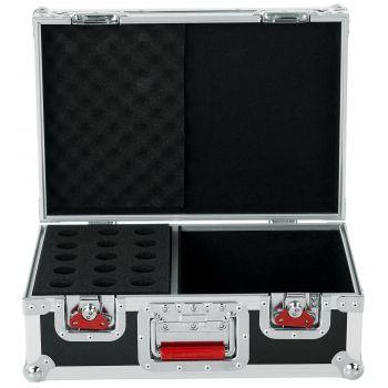 Gator G-TOUR-M15 Flightcase para 15 Micrófonos y compartimento para los Cables