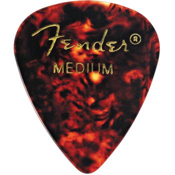 Fender 351 Shape Premium Picks Medium Tortoise Shell Pack 12