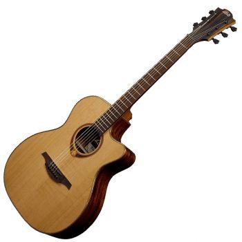 LAG T118ACE Guitarra Electro Acústica Tipo Auditorium con Cutaway Serie Tramontane
