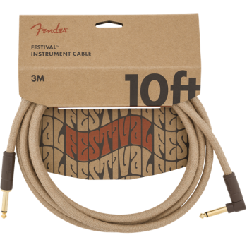 Fender Cable Angled Festival Instrument Pure Hemp 3 metros Natural
