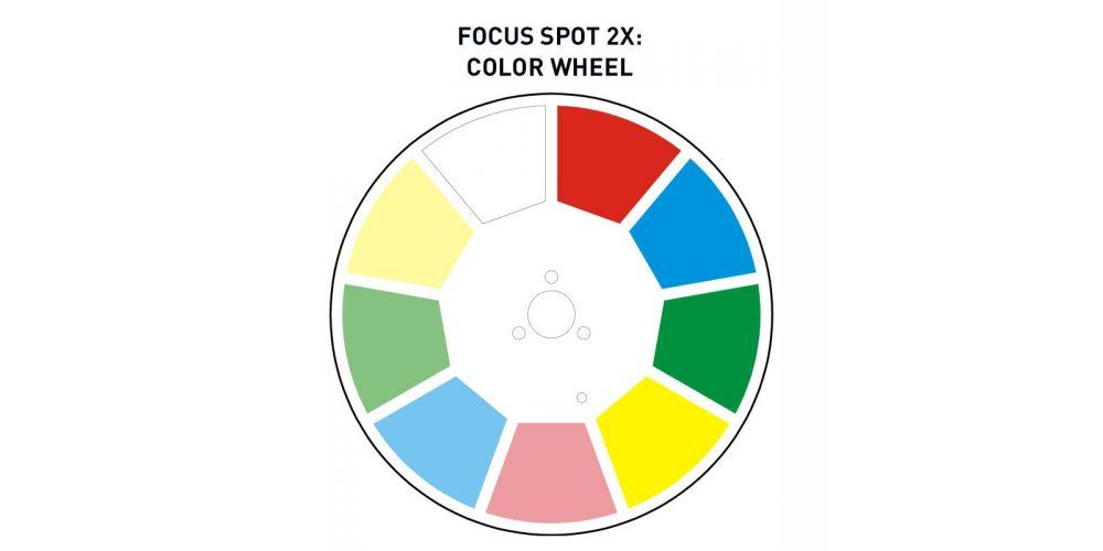 adj focus spot2x color wheel