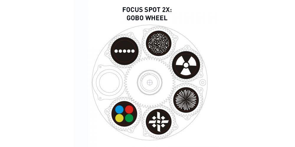 adj focus spot2x gobo wheel