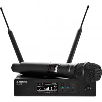 SHURE QLXD24E KSM9 G51 Sistema Inalámbrico KSM9 de Mano con Receptor. G51 470-534 MHz
