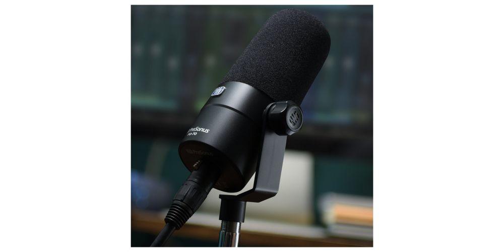 presonus pd 70 microfono podcast soporte
