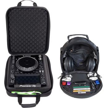 Walkasse Kit maleta DJ ligera 1 x W-CDM120 + 1 x W-HEADPHONES-BLACK