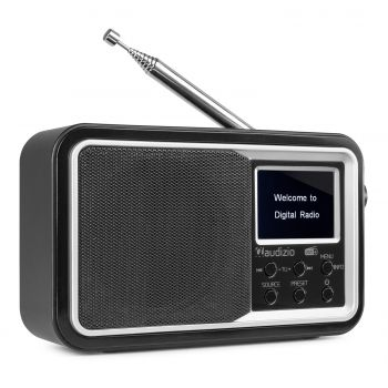 Audizio Anzio Radio Portable DAB+ BT FM con Batería Color Negro 102206