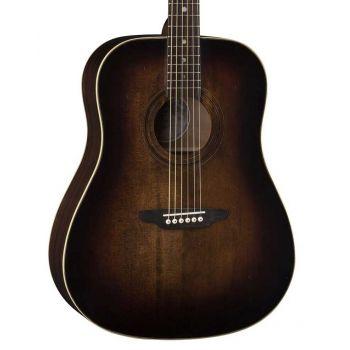 Luna Guitars Art Vintage Distressed Dreadnought Solid Top. Guitarra Acústica