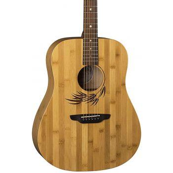Luna Guitars Woodland Bamboo Dread Satin Natural Guitarra Acústica