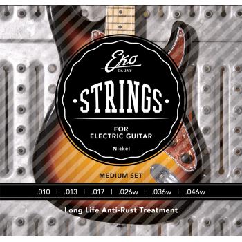 Eko Nickel Regular 10-46 Cuerdas Para Guitarra Electrica