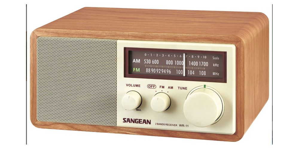 sangean wr11 radio fm am estilo clasico