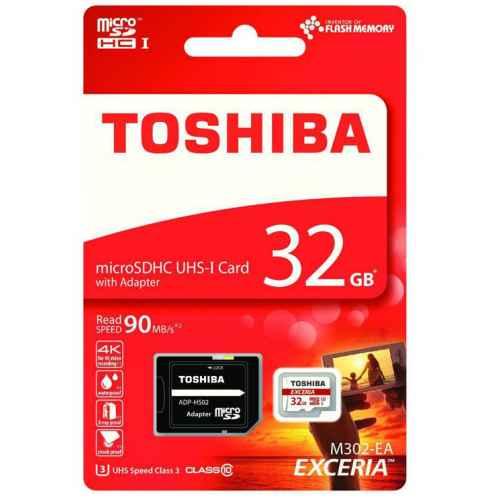 TOSHIBA Micro SD 32Gb Clase 10 + Adaptador SD THN-M302R0320EA