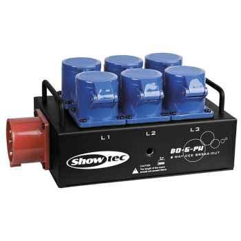 Showtec BO-6-PWC Distribuidor de Corriente 50299