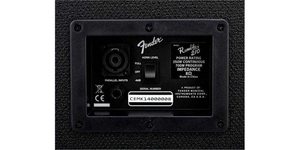 fender rumble 210 cabinet v3 conexiones