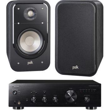 Pioneer A-20 K + Polk Audio S20 BK Conjunto Sonido