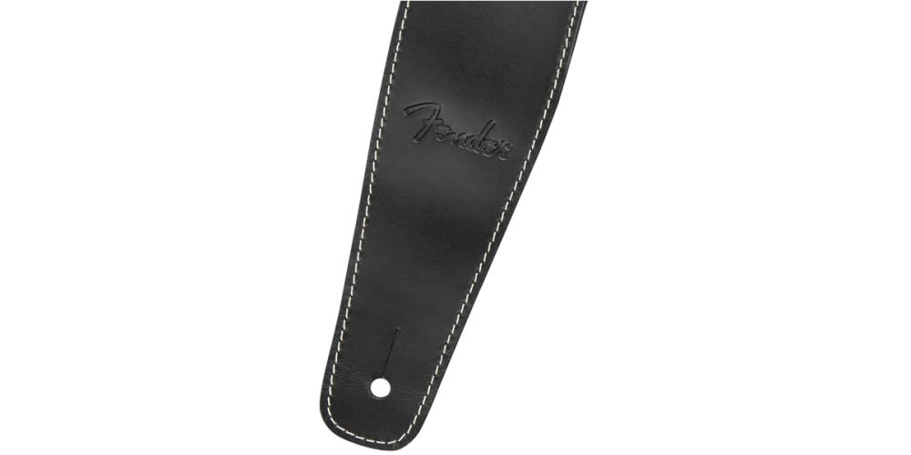 fender broken in leather strap black 2 5 correa