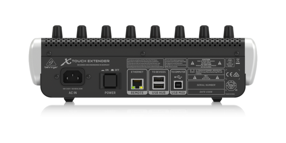 behringer X TOUCH EXTENDER conexiones