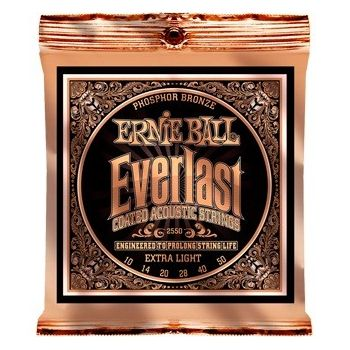 ERNIE BALL 2550 JUEGO ACÚSTICA  EVERLAST PHOSPHOR/BZ XLIGHT 10-50