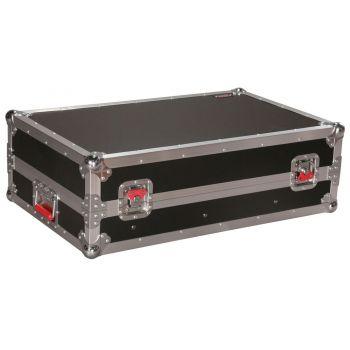 Gator G-TOUR-SLMX10 Flightcase para mezclador 10U con Parte Superior Inclinada y Riel Fijo
