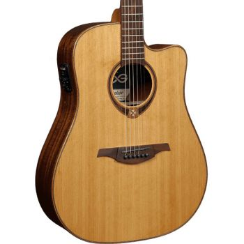 LAG T118DCE Guitarra Electro Acústica Formato Dreadnought con Cutaway Serie Tramontane