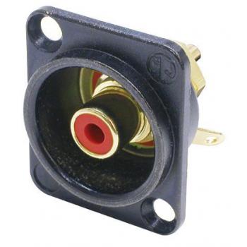 Neutrik NF 2 D-B-2 Conector RCA color Rojo