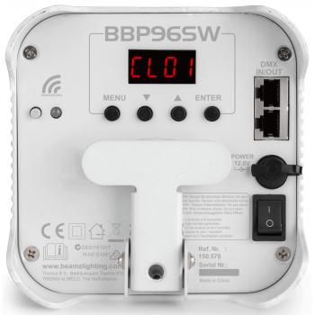 BEAMZ BBP96SW Foco Par Con Bateria 6X 12W WDMX