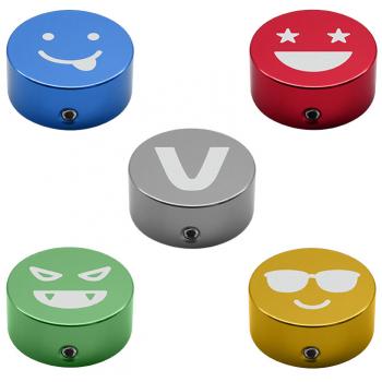 Valeton Footswitch Cap Kit de 5 botones para Decorar Potenciómetros