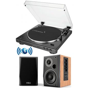 Equipo HiFi Audio Technica LP60XBT Giradiscos Bluetooth + Wiibo NEO 50 Altavoces Activos Bluetooth