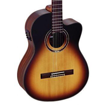 Ortega RCE158SN-TSB Guitarra Clásica Electrificada Tobacco Sunburst