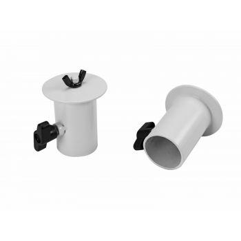 Omnitronic BOB-4 Stand Adaptor Adaptador de 35 mm a rosca M10 Blanco Pareja