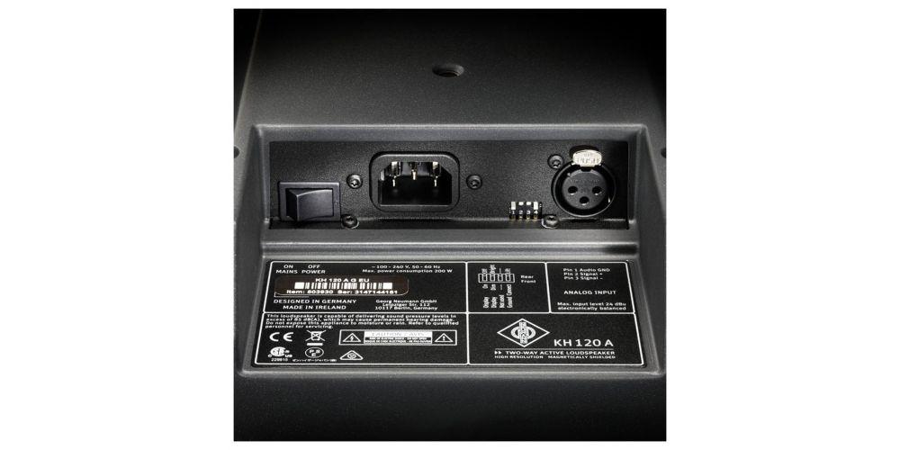 neumann kh120 monitor studio activo conexiones