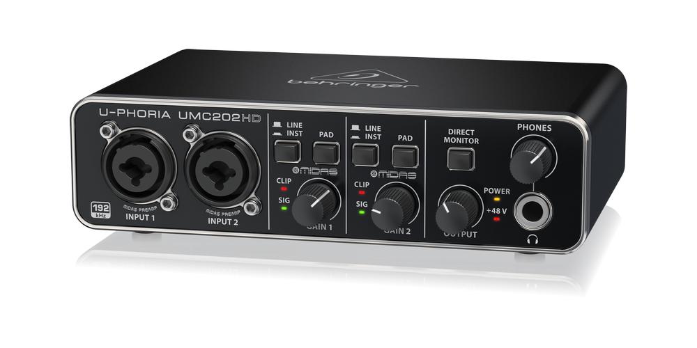 UMC202HD behringer tarjeta sonido front