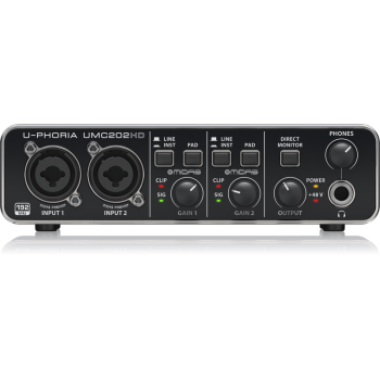 BEHRINGER UMC202 HD U-PHORIA Interface de Audio USB