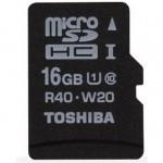 TOSHIBA Micro SD 16Gb Clase 10 Alta Velocidad + Adaptador SD