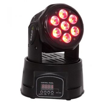 IBIZA LIGHT LMH350LED, Mini Cabeza Movil Wash 4 en 1