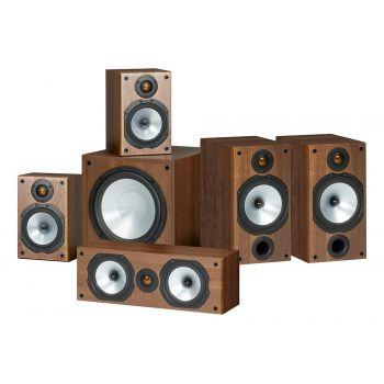 MONITOR AUDIO Kit POWER 2 Walnut  MR2 + MR1 + MRCENTER + MRW10,  POWER 2 Walnut
