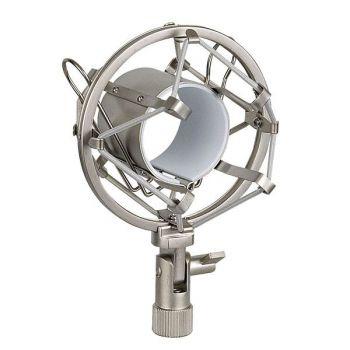 DAP Audio Araña para Micrófono Plateada 44-48 mm D1702