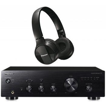 Pioneer A-10-K Amplificador +  Auricular SE-MJ553BT-K Bluetooth