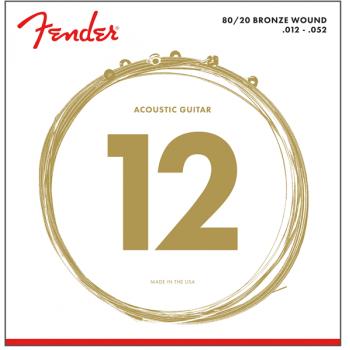 Fender 80/20 Bronze Acoustic Cuerdas 70L .012-.052 (6)
